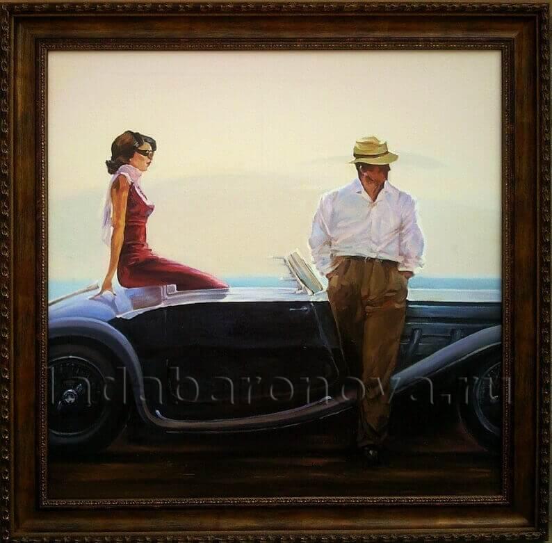 Копия картины Брента Линча «Прибрежный драйв»