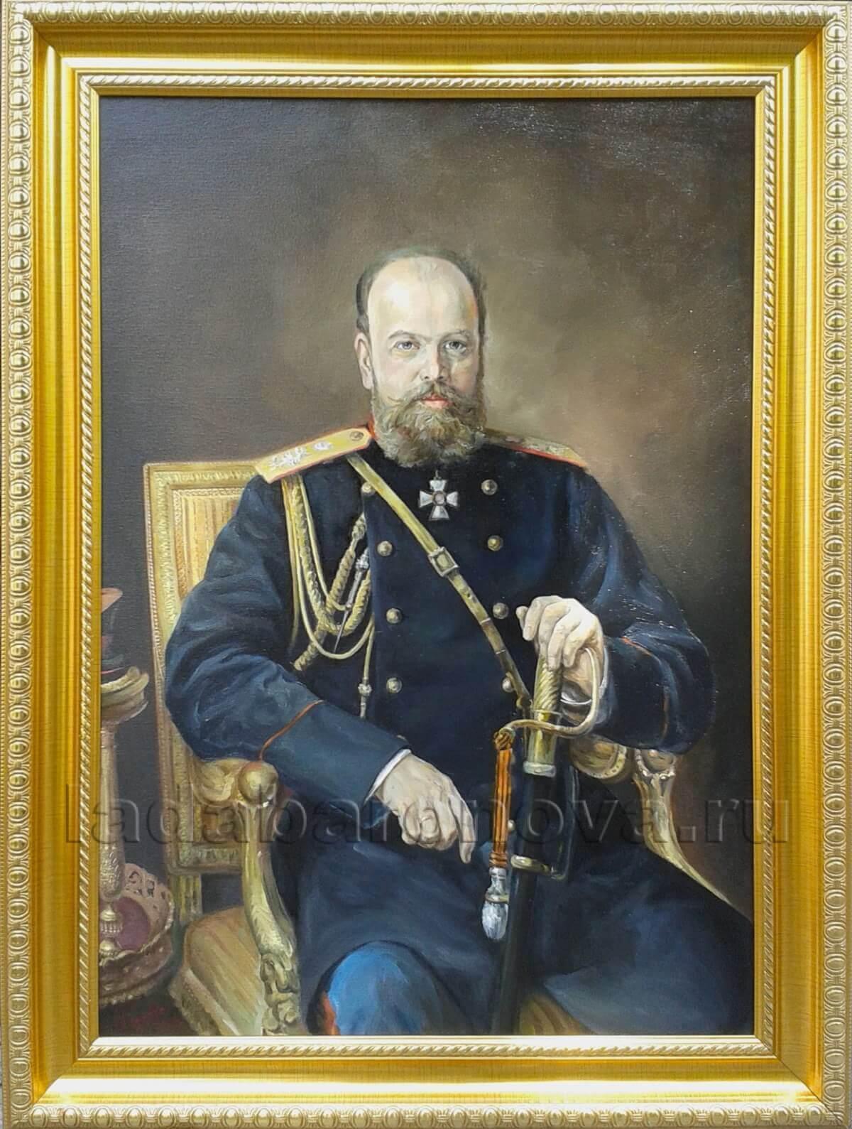 Копия картины И. Крамского «Александр III»