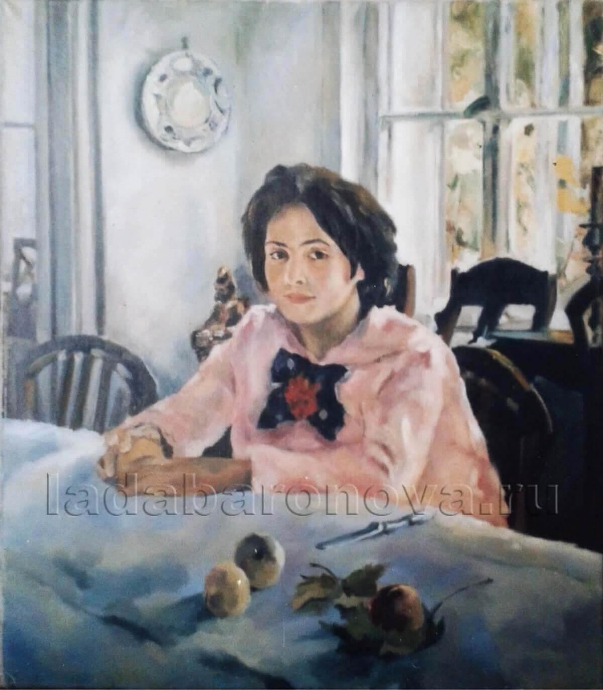 Копия картины В. Серова «Девочка с персиками»