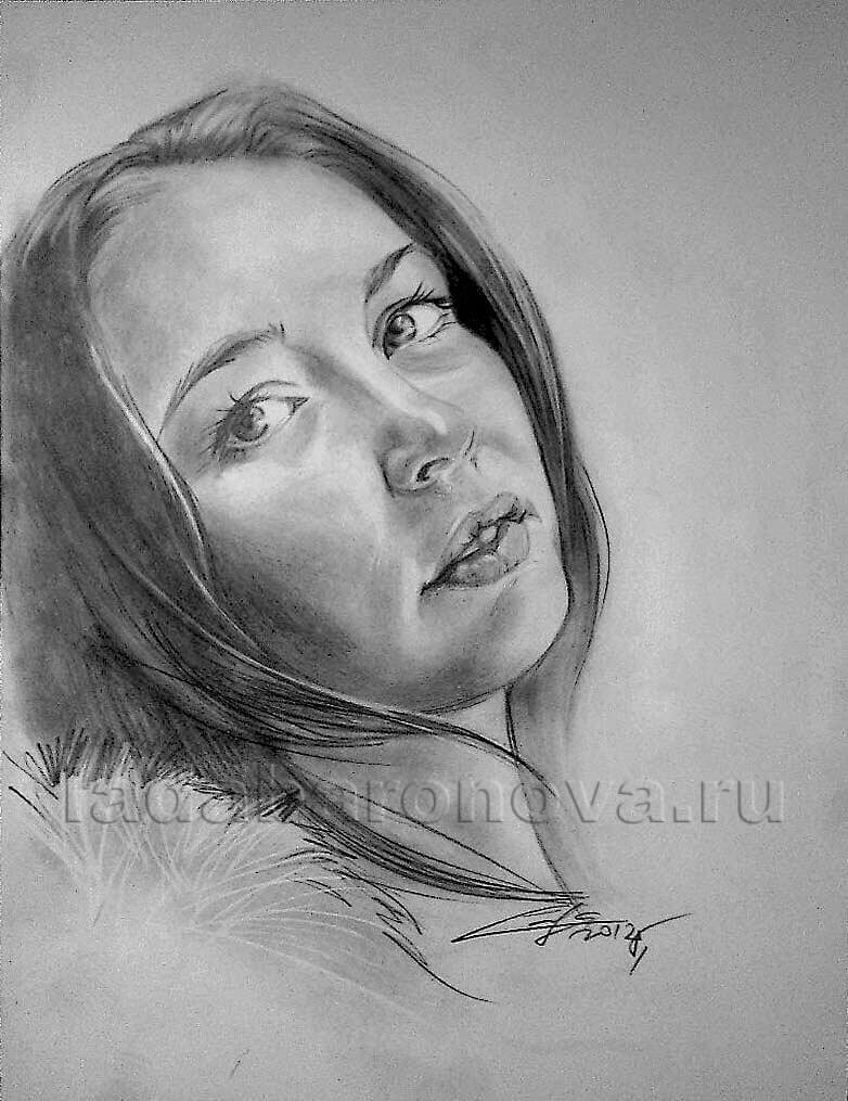 Портрет девушки «В меховой накидке»