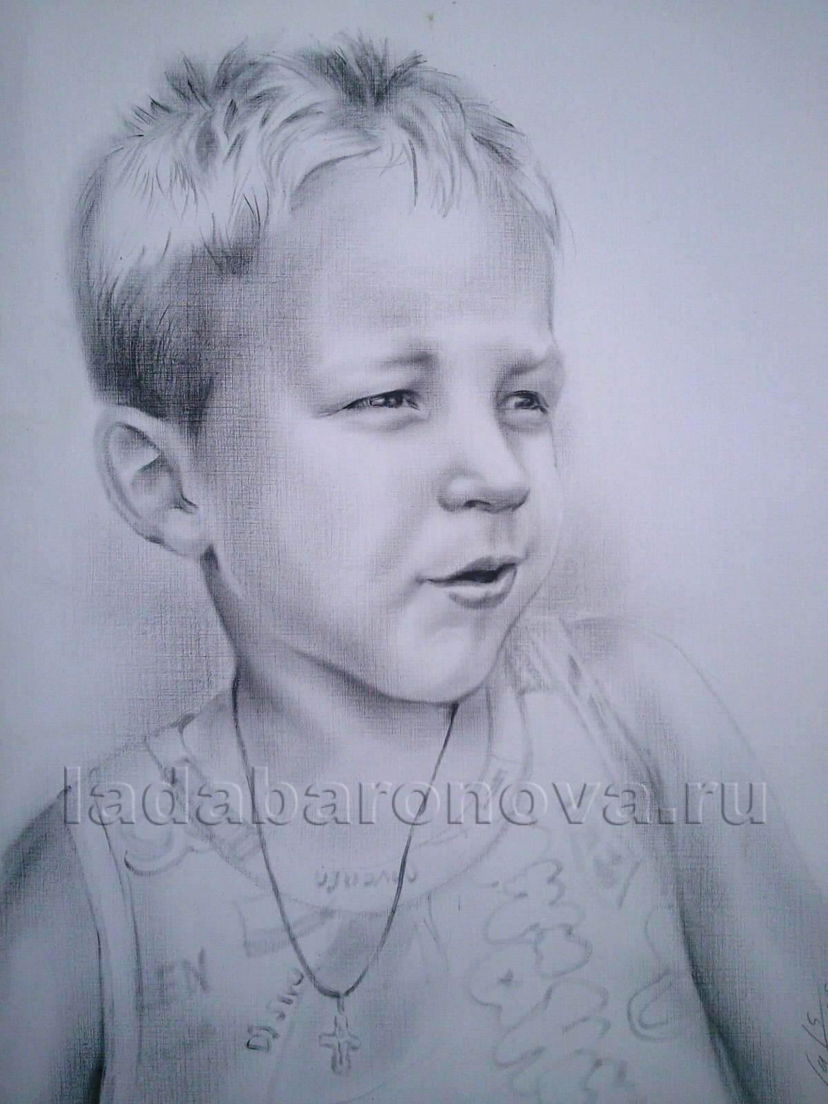 Портрет мальчика «Мальчик в майке»