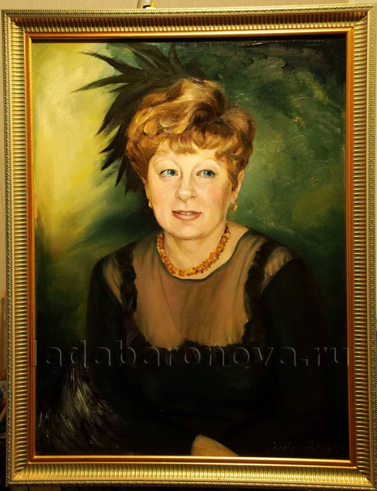 Портрет женщины «Дама в черном платье с газовым верхом»