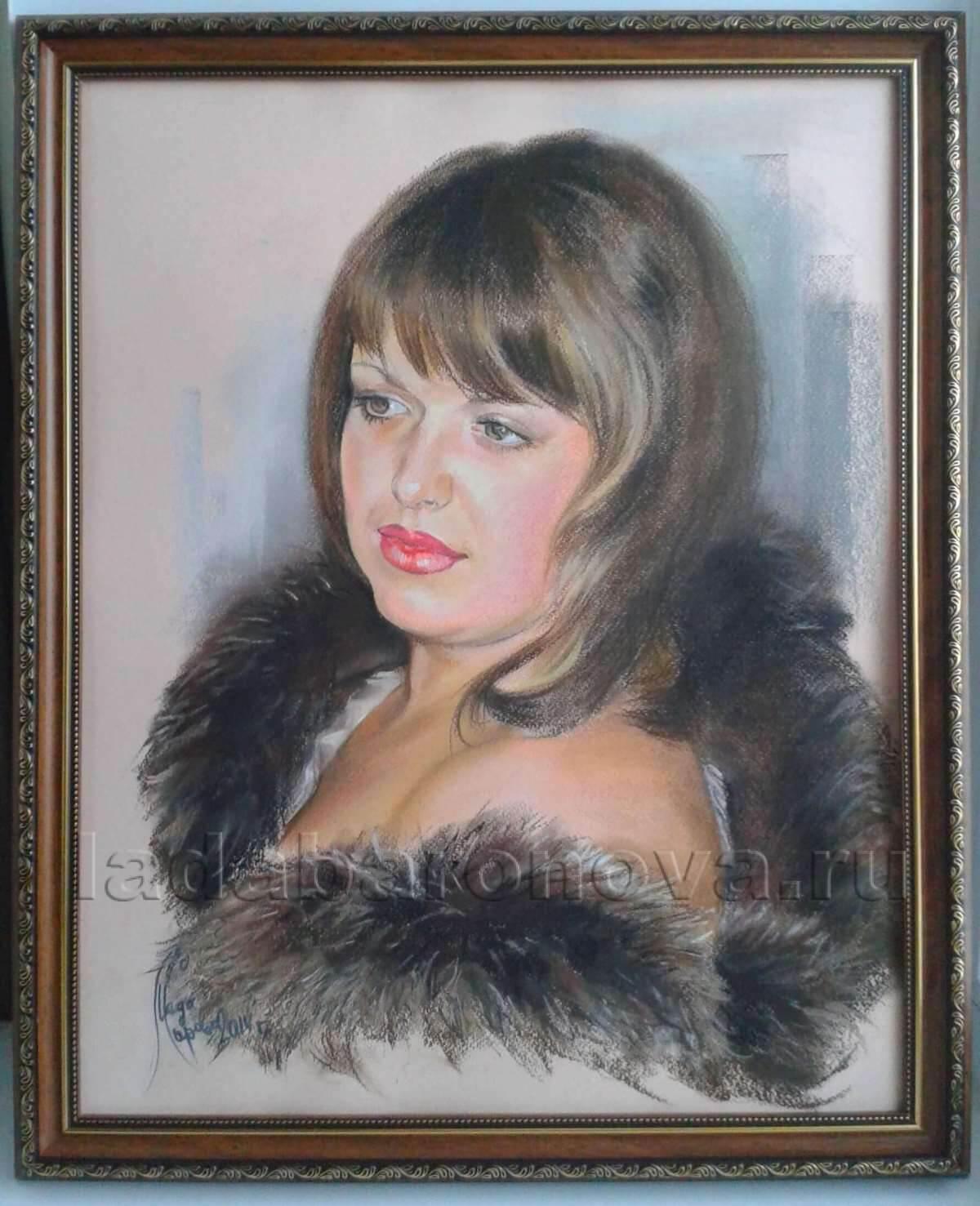Портрет женщины «Дама в мехах»