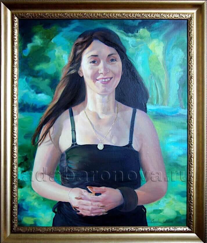 Портрет женщины «Залитая солнцем»
