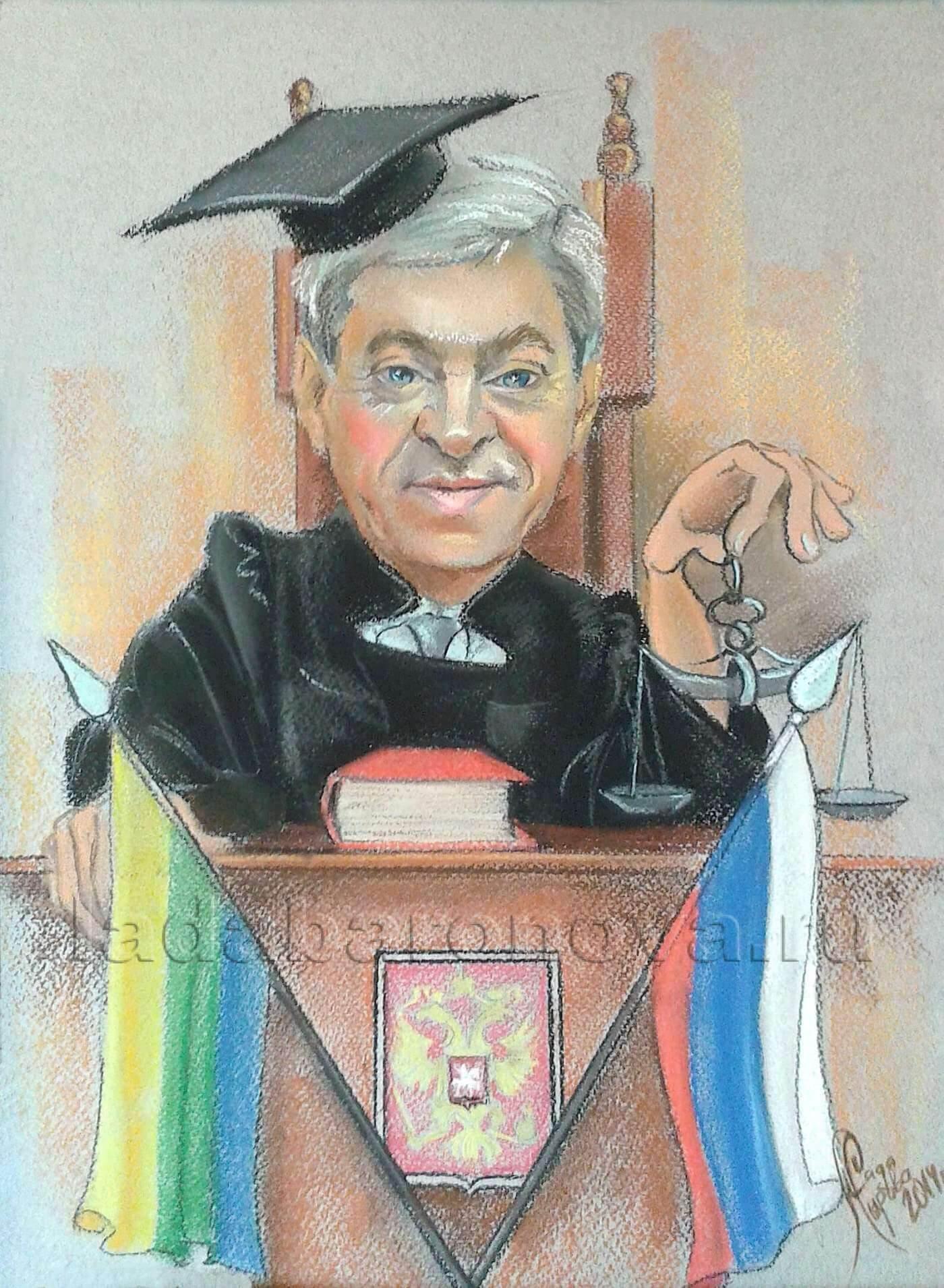 Шарж на мужчину «Судья»