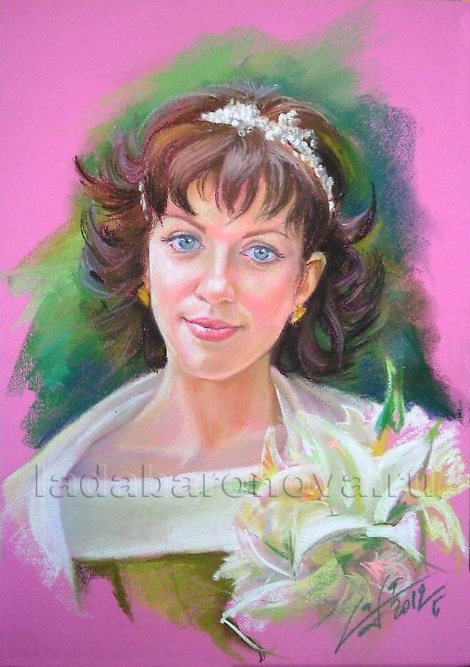 Портрет невесты пастелью