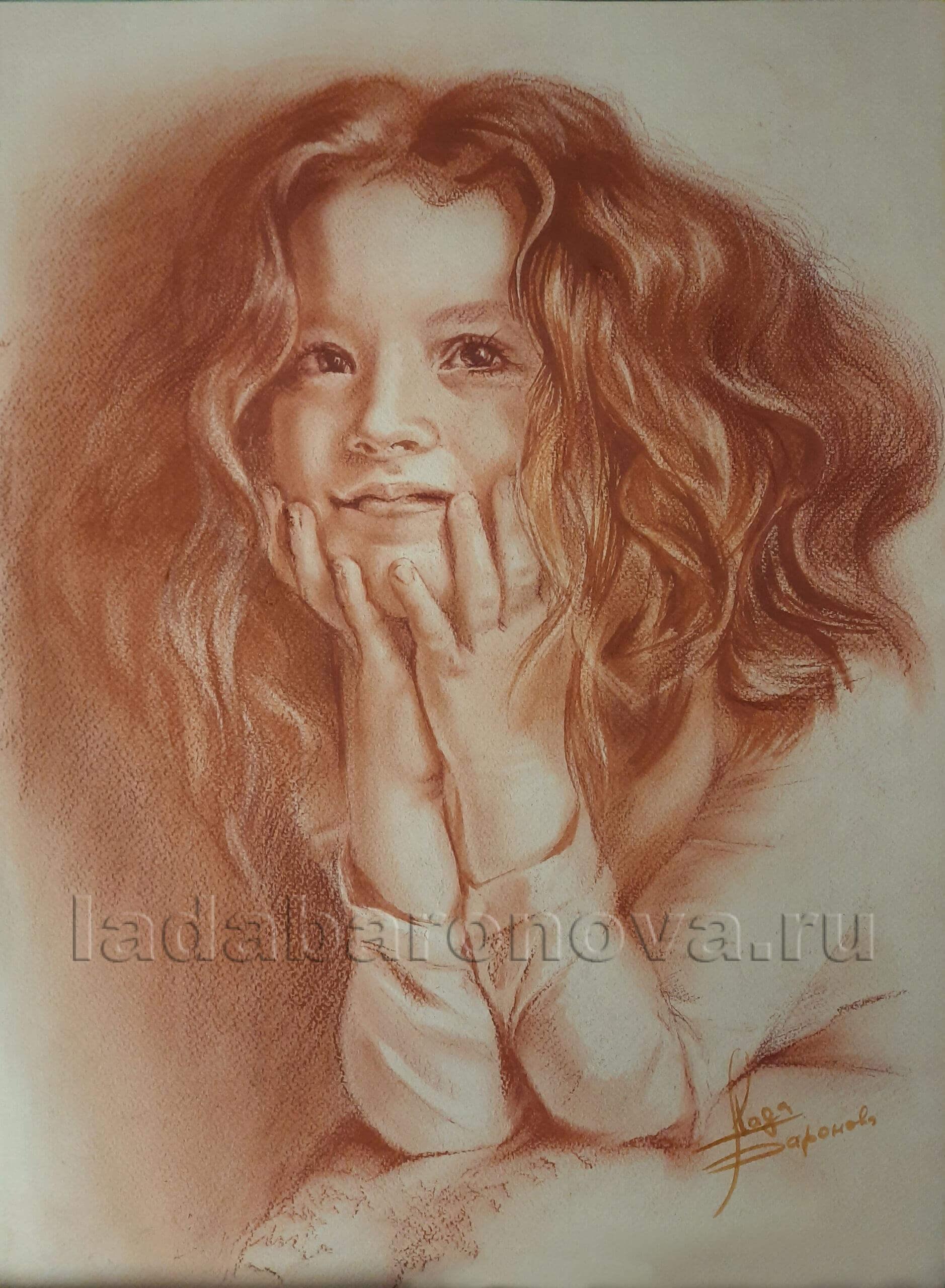 Портрет девочки с рыжими волосами
