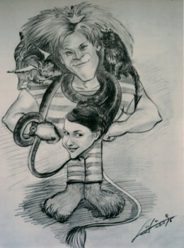 Муж-лев, жена-змея