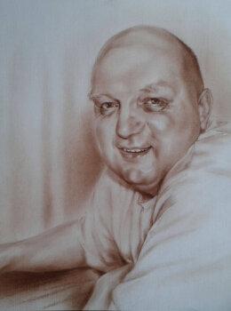 Портрет мужчины сепией