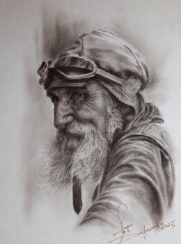 портрет байкер