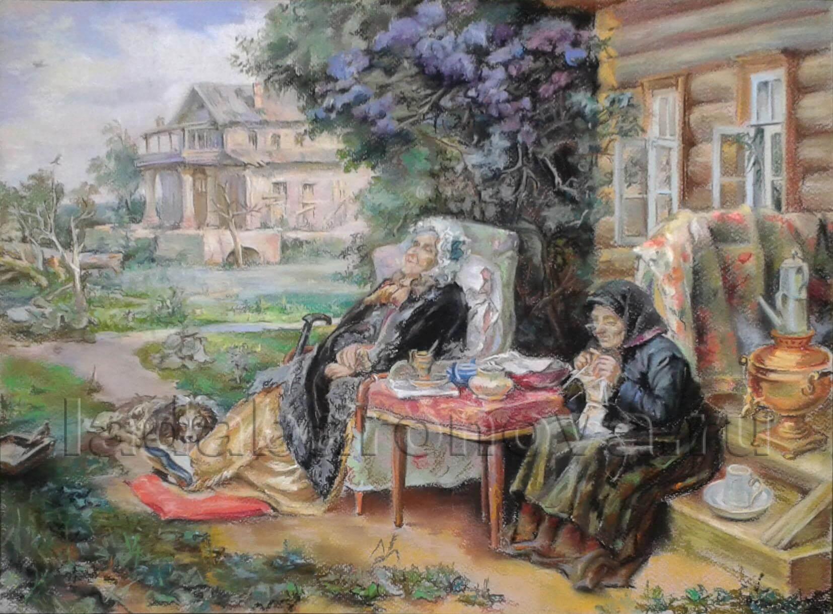Копия картины Маковского «Все в прошлом»