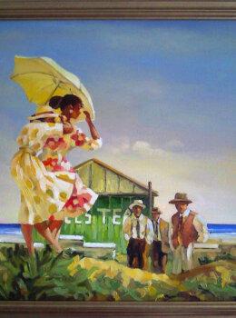 """Копия картины Витриано """"Опасный пляж"""""""