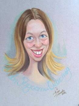 шарж портретный на девушку
