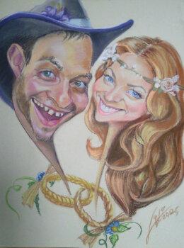 портретный свадебный