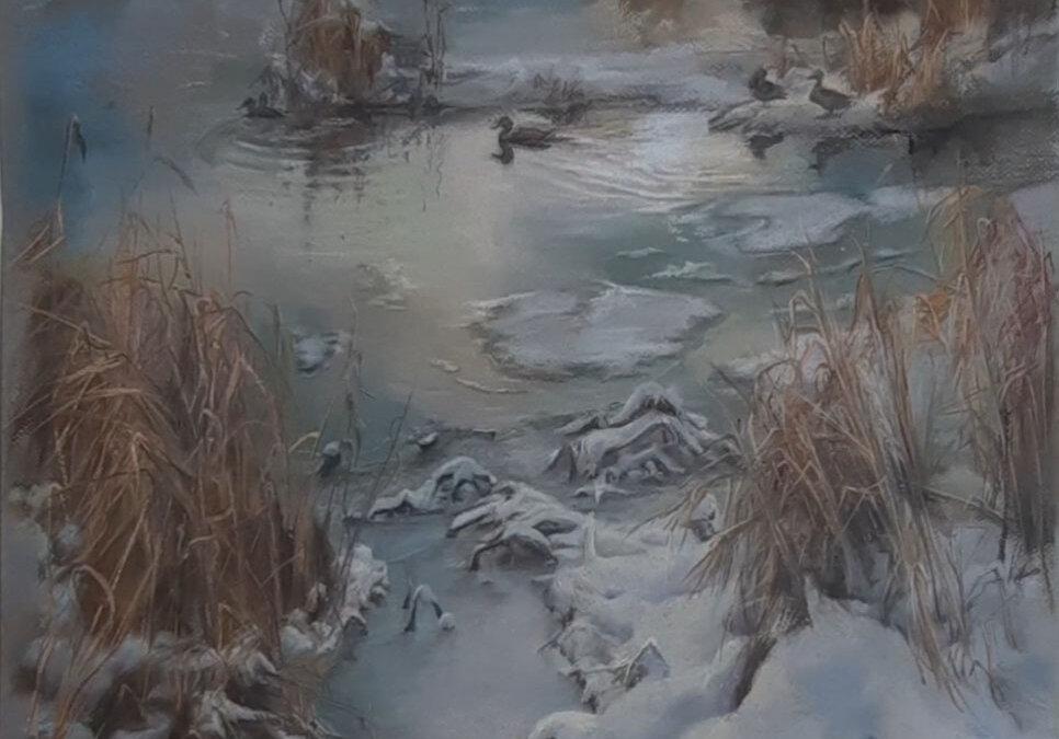 Пейзаж с утками